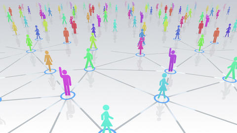 Social Network Connection A 4w 1 HD Stock Video Footage