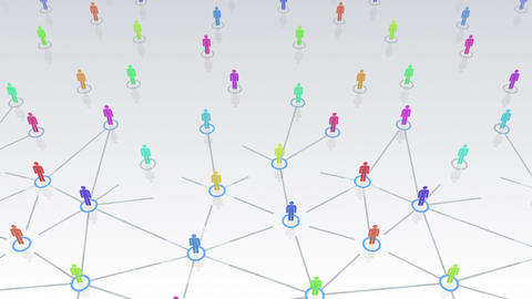 Social Network Connection B 3w 1 HD Animation