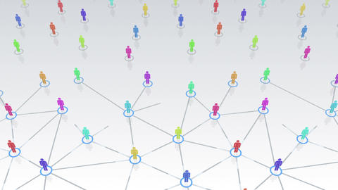 Social Network Connection B 3w 1 HD Stock Video Footage