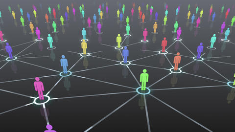 Social Network Connection B 4b 1 HD Animation