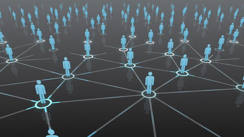 Social Network Connection B 4b 2 HD Animation