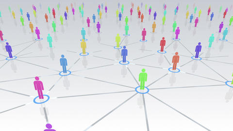 Social Network Connection B 4w 1 HD Animation