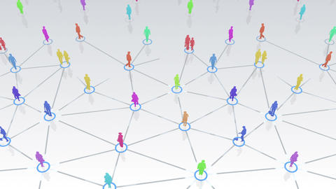 Social Network Connection C 5w 1 HD Stock Video Footage