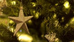 Christmas Tree Star Ornament Stock Video Footage