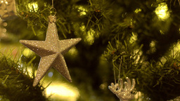 Christmas Tree Star Ornament stock footage