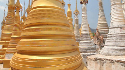Pagoda Indein, Myanmar Stock Video Footage