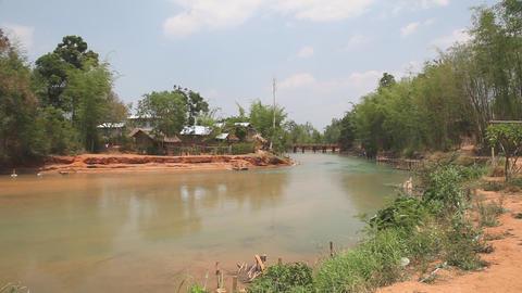 Indein village, Myanmar Stock Video Footage