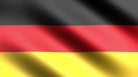 4k Flag Germany Animation