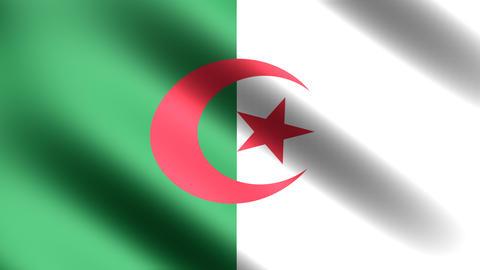 4k Flag Algeria Stock Video Footage