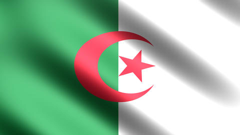 4k Flag Algeria Animation
