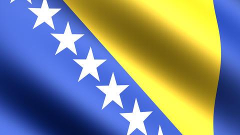 4k Flag Bosnia Stock Video Footage