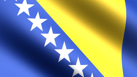 4k Flag Bosnia Animation