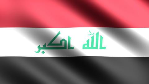 4K Flag Iraq Stock Video Footage