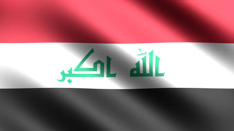 4K Flag Iraq Animation