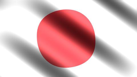 4k Flag Japan Stock Video Footage