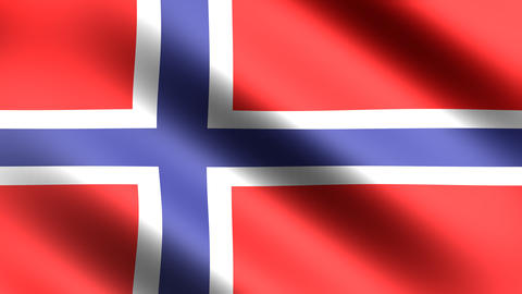 4k Flag Norway Animation