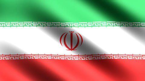 4K Flag Iran stock footage