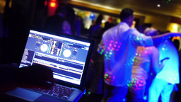 Wedding DJ stock footage