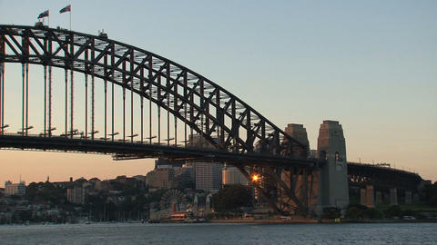 Harbor bridge close up Stock Video Footage