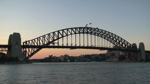 Ferry leaving Sydney harbor Stock Video Footage