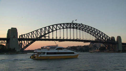 Ferry leaving Sydney harbor Footage