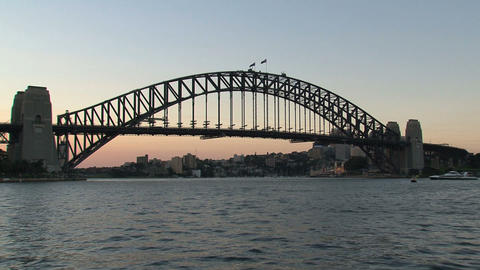 Harbour Bridge sunset, Sydney Footage