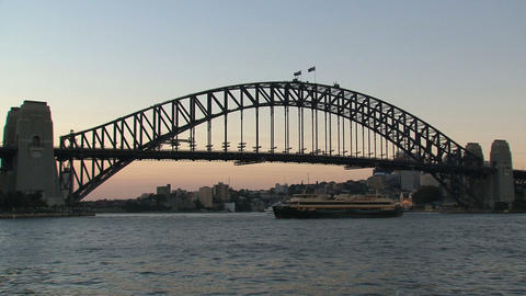 Harbor bridge sunset Live Action