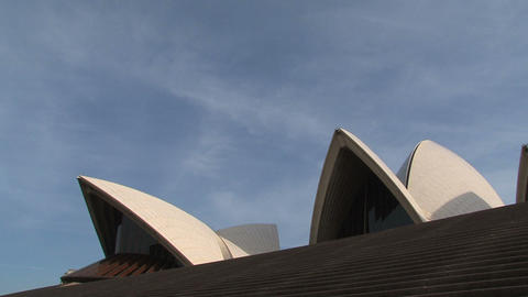Zoom out from Opera House, Sydney Footage