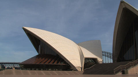 Sydney Opera House Pan Stock Video Footage