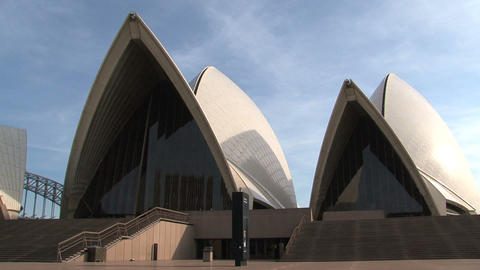 Pan Opera House, Sydney Stock Video Footage