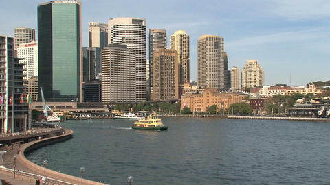 Sydney harbor skyline Footage