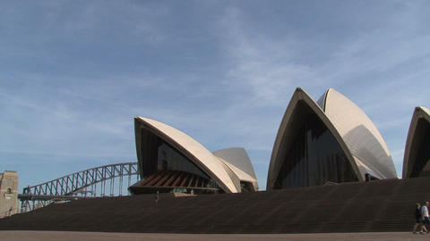 Walking infront of the Opera house Footage