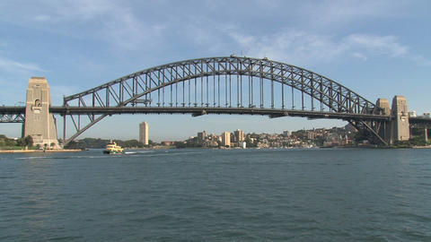 Sydney Harbor bridge Stock Video Footage