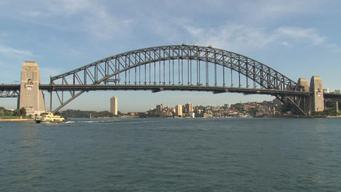 Sydney Harbor Bridge stock footage