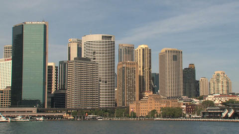 Downtown skyline Sydney Footage