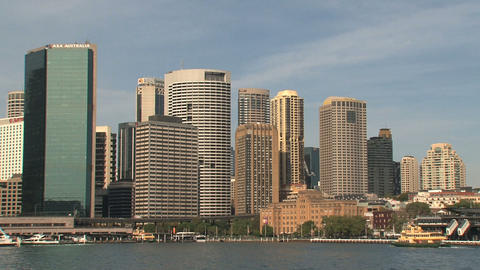 Downtown skyline Sydney Stock Video Footage