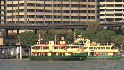 Ferries in Sydney harbor Stock Video Footage