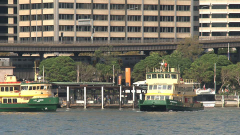 Ferries in Sydney harbor Footage