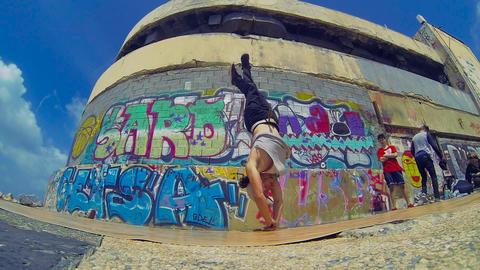Urban Hip-hop Teenager dubstep dancer dancing breakdance... Stock Video Footage