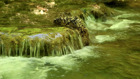 Waterfall, Grand Canyon of Crimea, Crimea, Ukraine Stock Video Footage