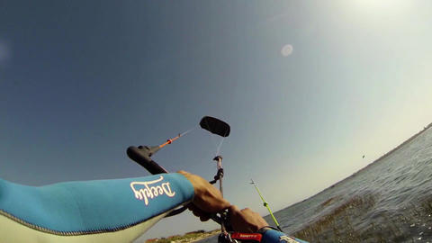 Paulo Azevedo's Kitesurfing POV Stock Video Footage