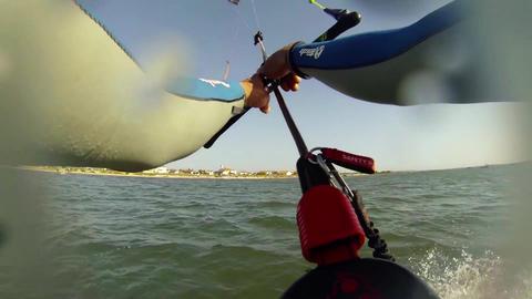 Paulo Azevedo's Kitesurfing POV Stock Video Footage