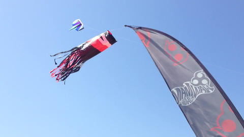 Static kites Stock Video Footage