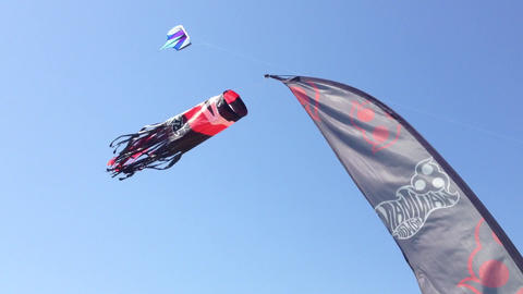 Static kites Stock Video Footage