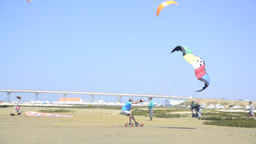 Francisco Costa On A Landing Kite stock footage