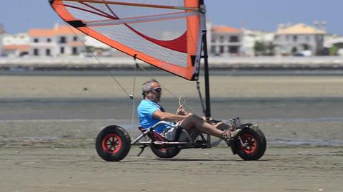 Francisco Costa on a windcar Footage