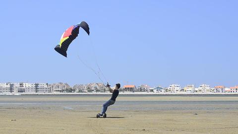 Paulo Azevedo on a landing kite Footage