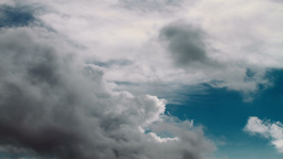 Time Lapse Of Cloudy Sky stock footage
