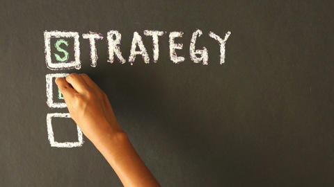 Strategy, Execution, Success Chalk Drawing Stock Video Footage