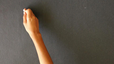 Thinking, Actions, Results Summation Chalk Drawing Stock Video Footage